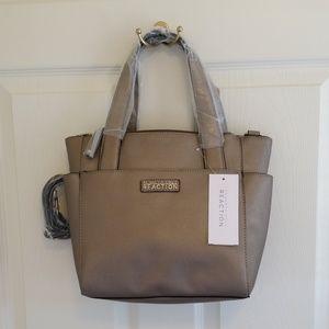 Kenneth Cole Reaction Handbag Glossy Metallic
